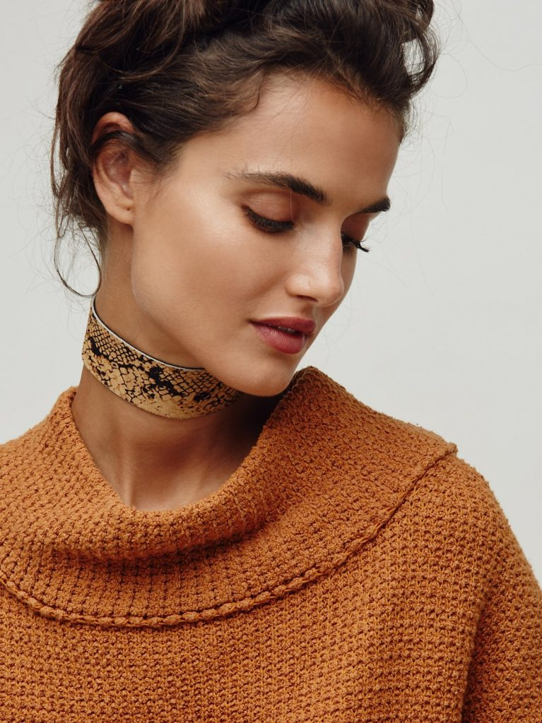free people rebel soul choker snakeskin