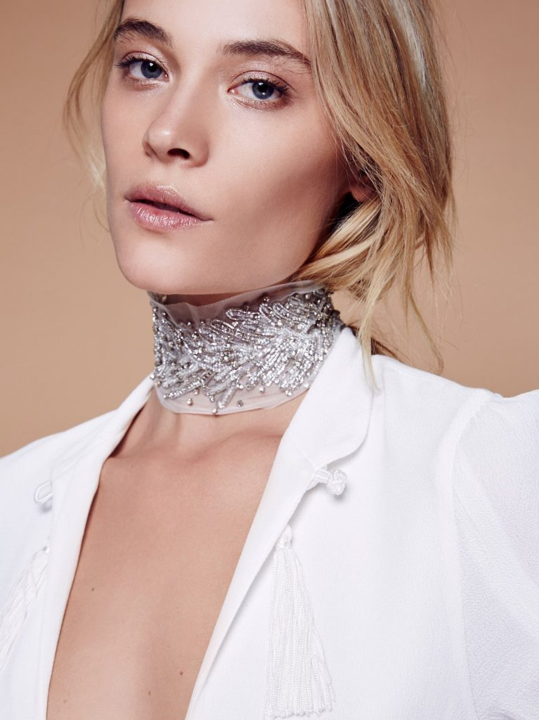 Free People silver dreams choker white