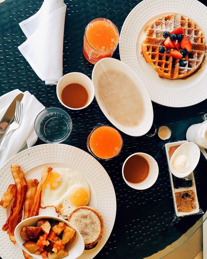 Breakfast on the beach in Naples Florida