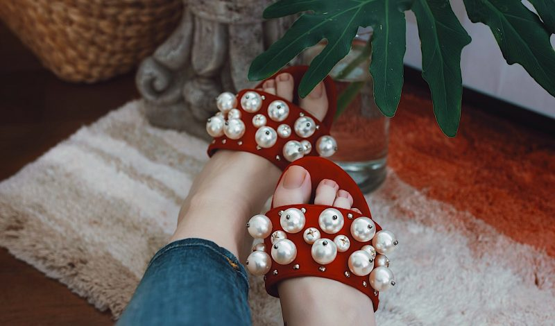Rope You In: Pearl Embellished Shoes and White Shirt