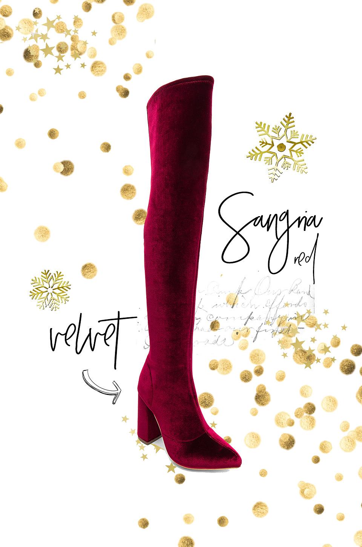 Raye Farley Boot Sangria Velvet