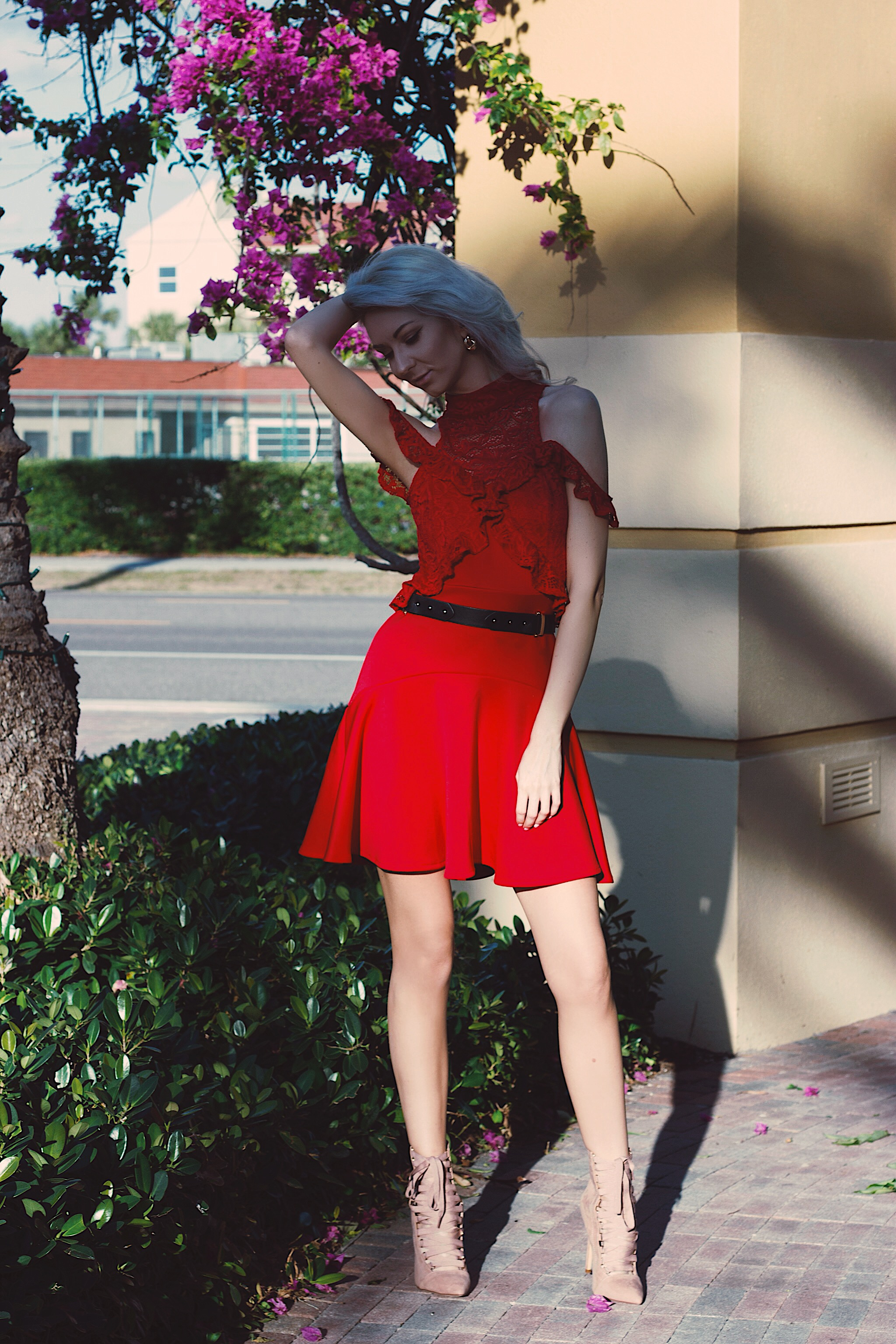 Red lace dress Style Unsettled