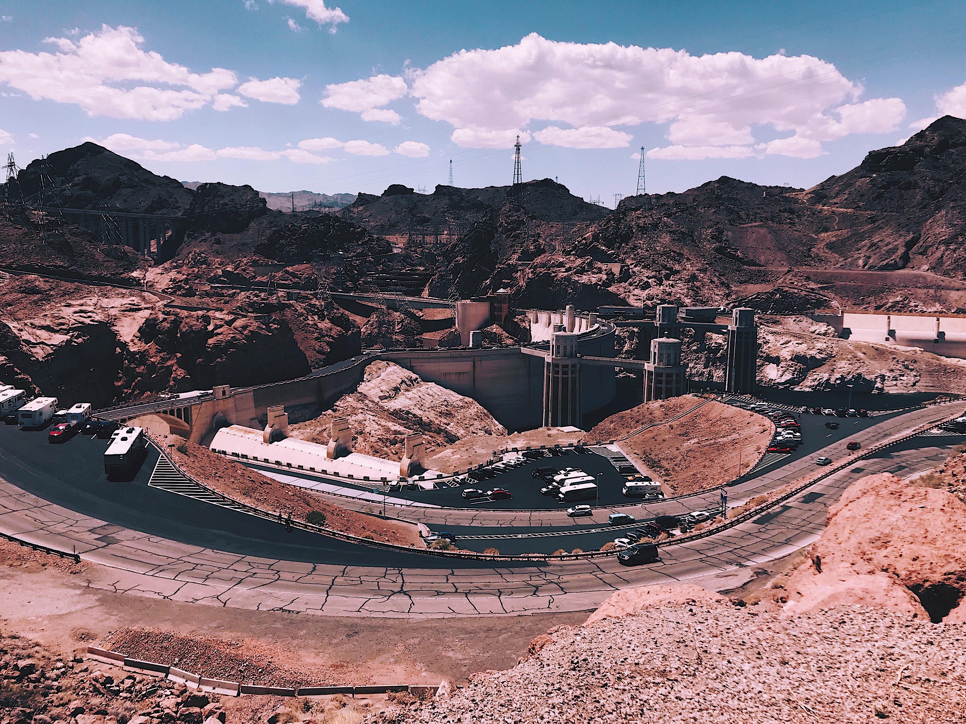 Hoover Dam Vegas Nevada Style Unsettled