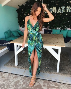 Silkfred tropical print dress