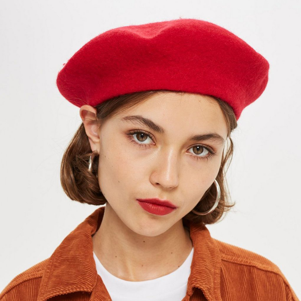 TopShop red beret Style Unsettled