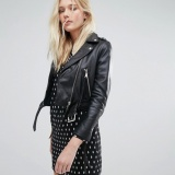 ASOS cropped leather jacket