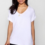 BoohooOversized Boyfriend V Neck T-Shirt