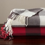 Pottery Barn buffalo check throw
