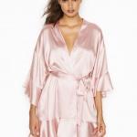 Victorias Secret Very Sexy Pink Flounce Satin Kimono