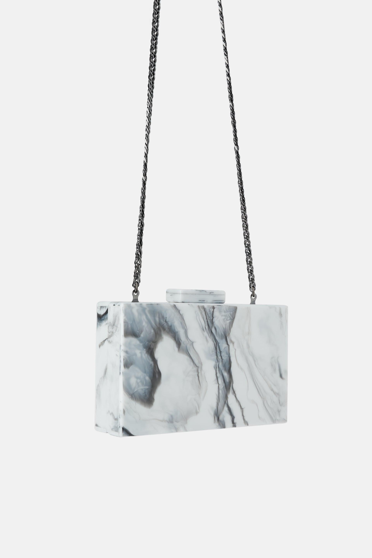 Zara marble handbag