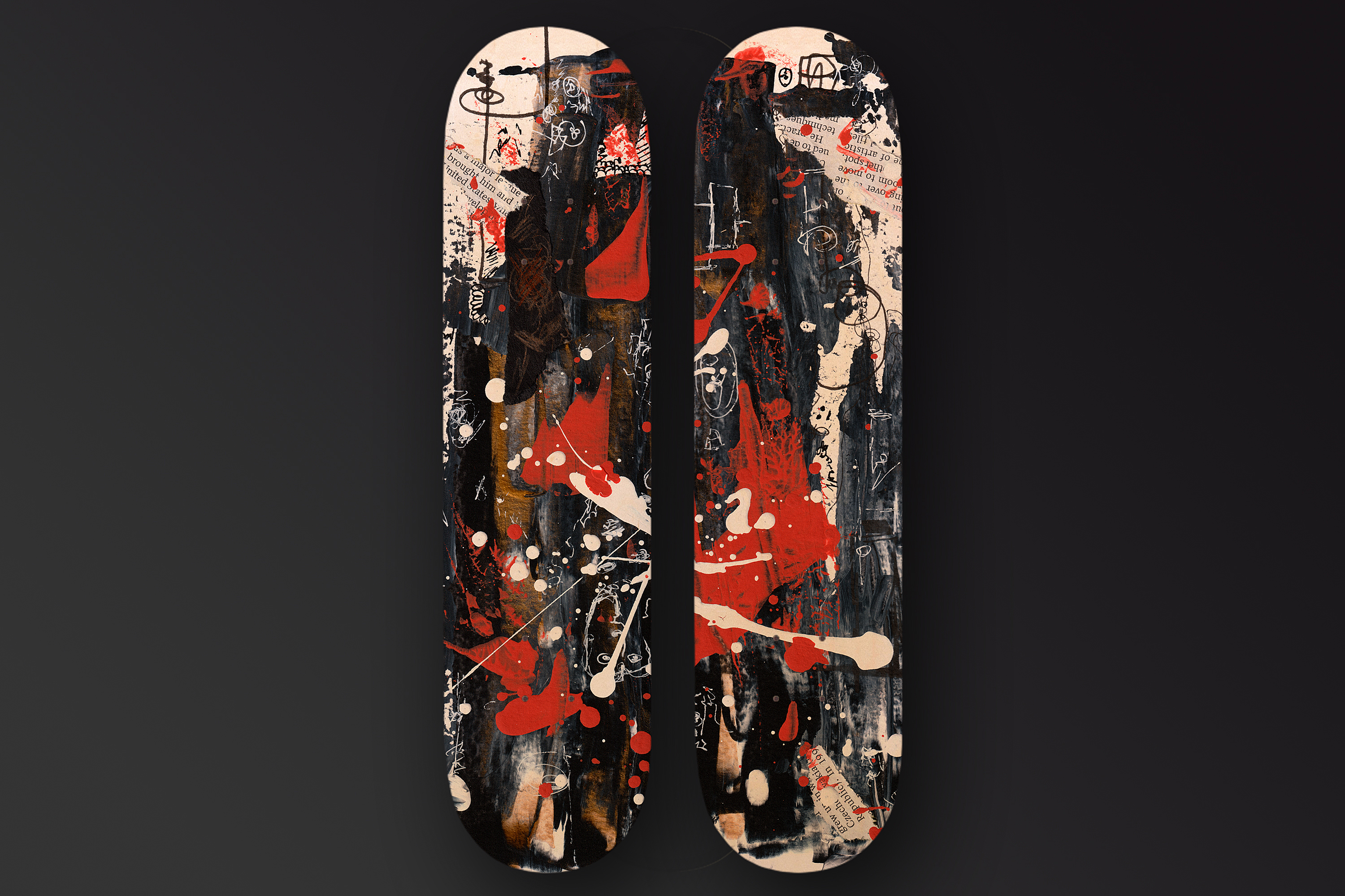 """Rhythm Of Life"" skateboard two panels"