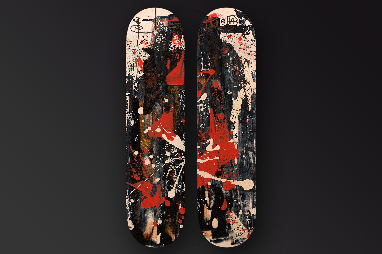"""Rhythm Of Life"" skateboard two panels"